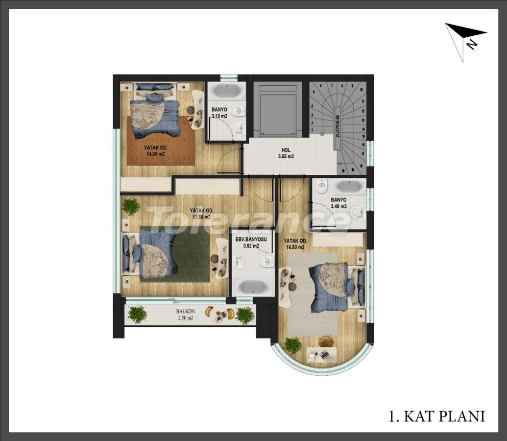 Отдельная вилла в Коньяалты, Анталия с частным бассейном и возможностью получения Турецкого гражданства - 18666   Tolerance Homes