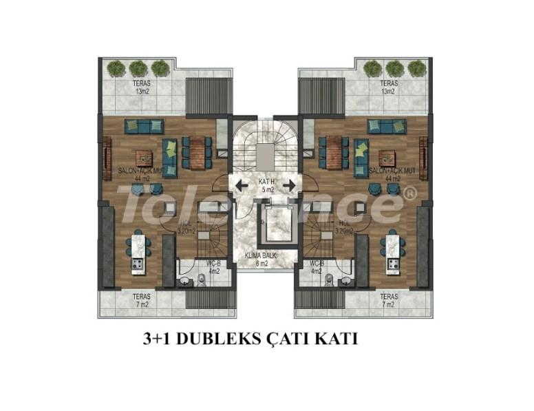 Квартиры в Хурме, Коньяалты в комплексе с открытым и закрытым бассейнами от застройщика - 18294 | Tolerance Homes