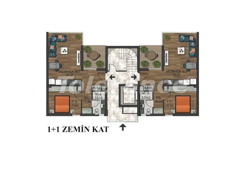 Квартиры в Хурме, Коньяалты в комплексе с открытым и закрытым бассейнами от застройщика - 18290 | Tolerance Homes