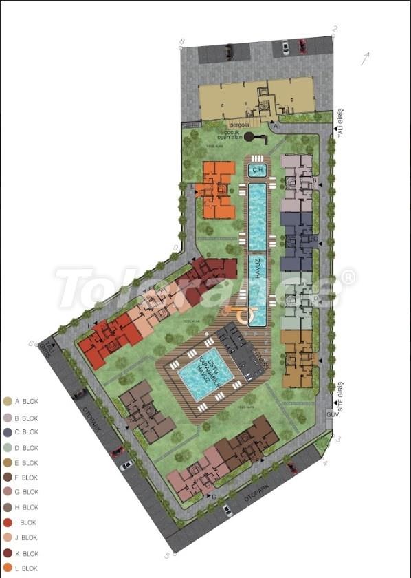 Квартиры в Хурме, Коньяалты в комплексе с открытым и закрытым бассейнами от застройщика - 18296 | Tolerance Homes