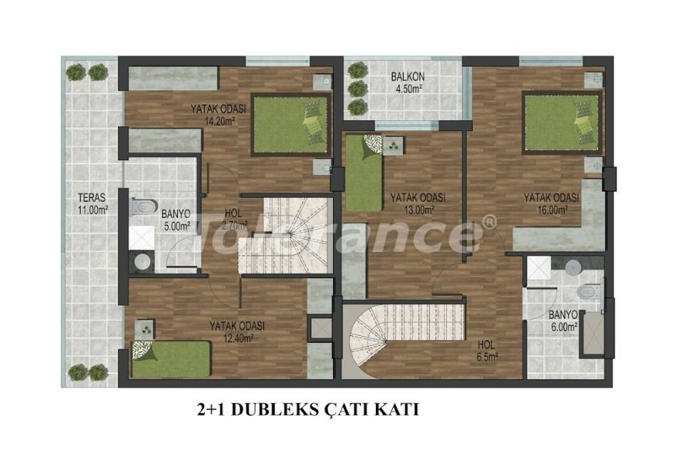 Квартиры в Хурме, Коньяалты в комплексе с открытым и закрытым бассейнами от застройщика - 18291 | Tolerance Homes