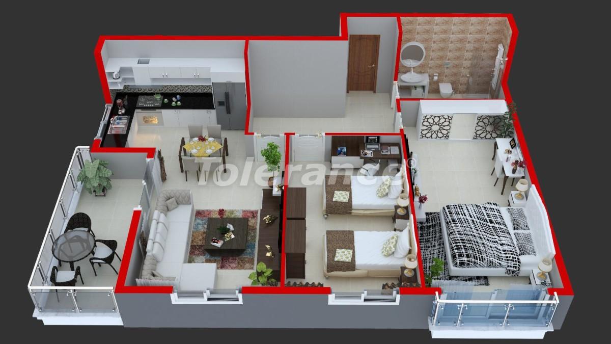 Современные апартаменты в Махмутларе у моря от надежного застройщика с рассрочкой - 18365 | Tolerance Homes