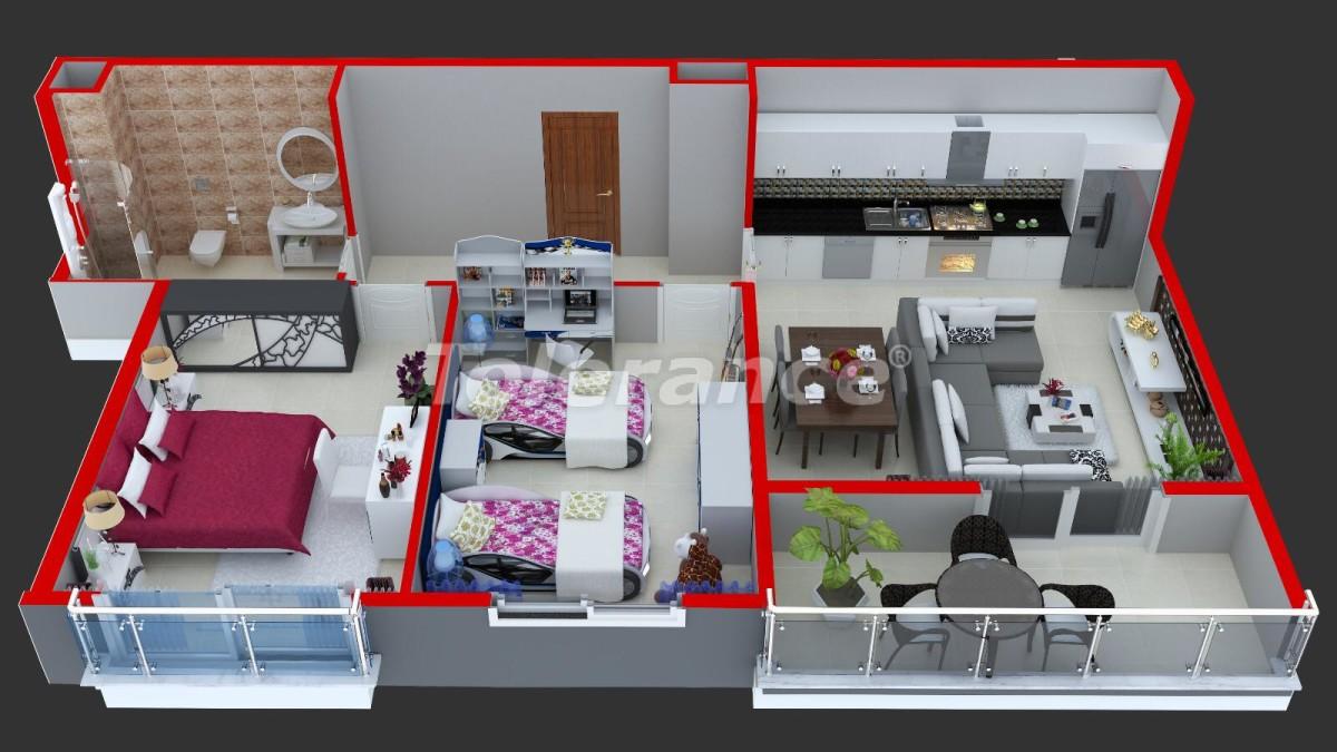 Современные апартаменты в Махмутларе у моря от надежного застройщика с рассрочкой - 18364 | Tolerance Homes