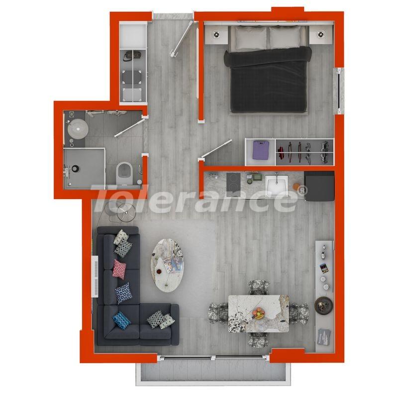 Современные апартаменты в Махмутларе у моря от надежного застройщика с рассрочкой - 18386 | Tolerance Homes