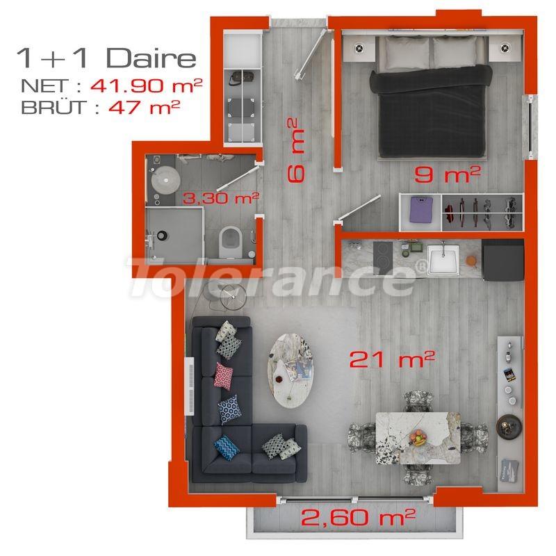 Современные апартаменты в Махмутларе у моря от надежного застройщика с рассрочкой - 18387 | Tolerance Homes
