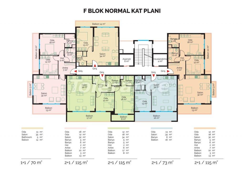 Современные инвестиционные апартаменты в Алании класса люкс недалеко от центра города от застройщика - 18476 | Tolerance Homes