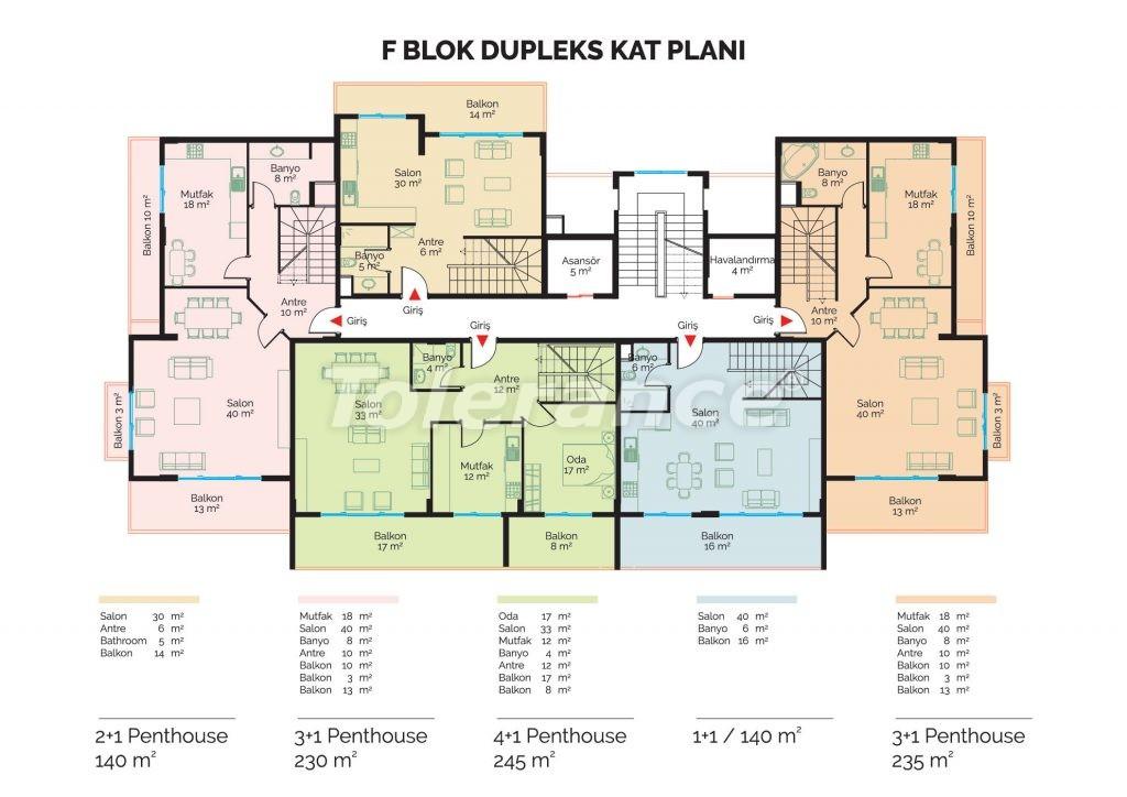 Современные инвестиционные апартаменты в Алании класса люкс недалеко от центра города от застройщика - 18475 | Tolerance Homes