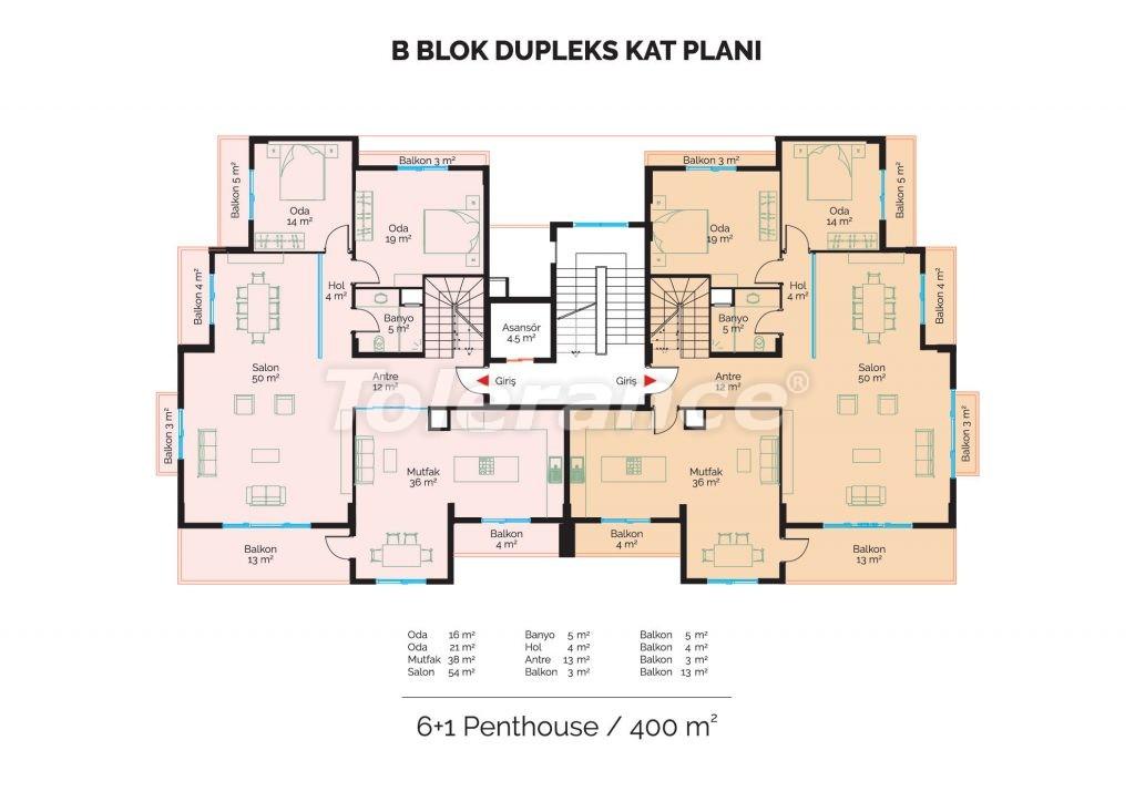 Современные инвестиционные апартаменты в Алании класса люкс недалеко от центра города от застройщика - 18470 | Tolerance Homes