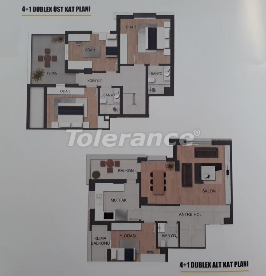 Современные квартиры в Унджалы, Коньяалты в комплексе с бассейном - 18921 | Tolerance Homes