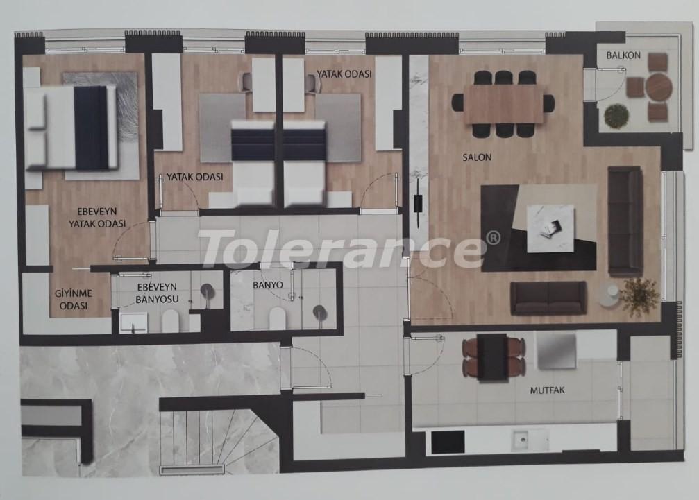 Современные квартиры в Унджалы, Коньяалты в комплексе с бассейном - 18889 | Tolerance Homes