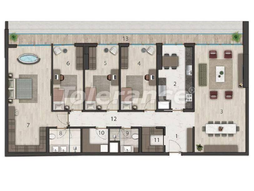 Элитные квартиры в Бююкчекмедже, Стамбул в комплексе с развитой инфраструктурой и видом на Мраморное море - 19132 | Tolerance Homes