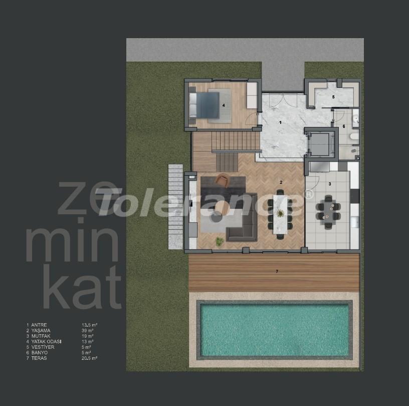 Современные виллы в Коньяалты с частным бассейном - 19008   Tolerance Homes