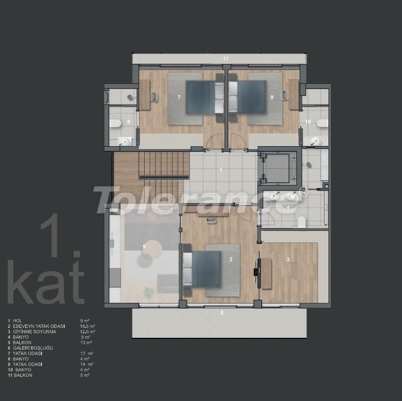 Современные виллы в Коньяалты с частным бассейном - 19009   Tolerance Homes