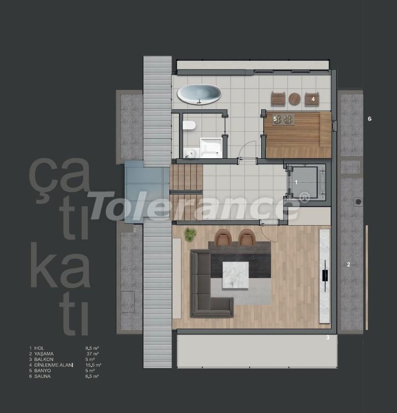Современные виллы в Коньяалты с частным бассейном - 19010   Tolerance Homes