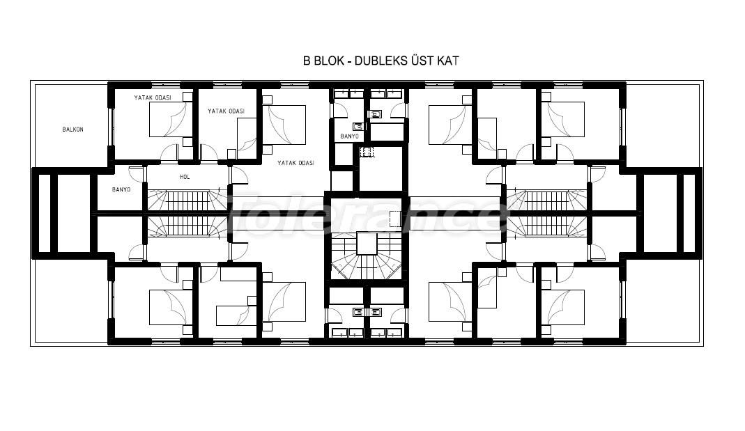 Элитные квартиры в Хурме, Коньяалты в комплексе с бассейном - 19386   Tolerance Homes