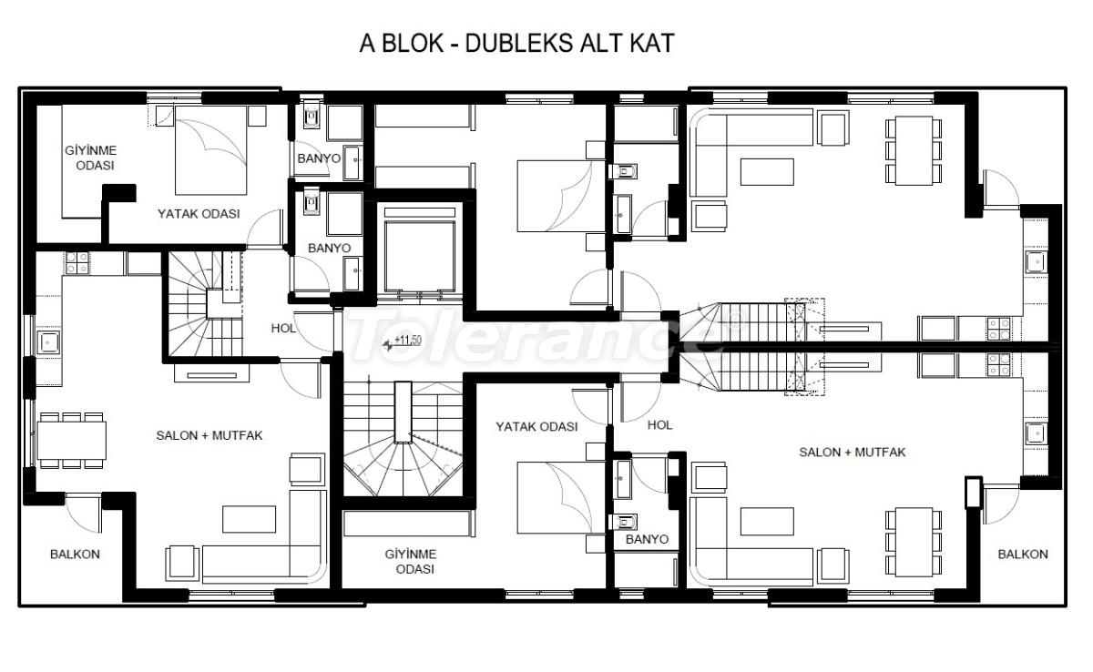Элитные квартиры в Хурме, Коньяалты в комплексе с бассейном - 19382   Tolerance Homes