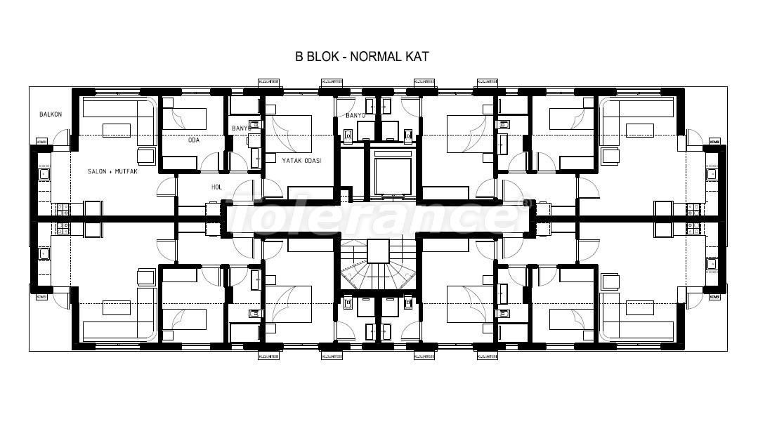 Элитные квартиры в Хурме, Коньяалты в комплексе с бассейном - 19385   Tolerance Homes
