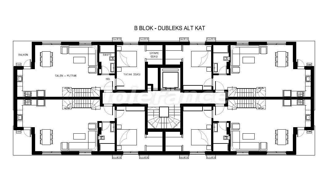 Элитные квартиры в Хурме, Коньяалты в комплексе с бассейном - 19384   Tolerance Homes