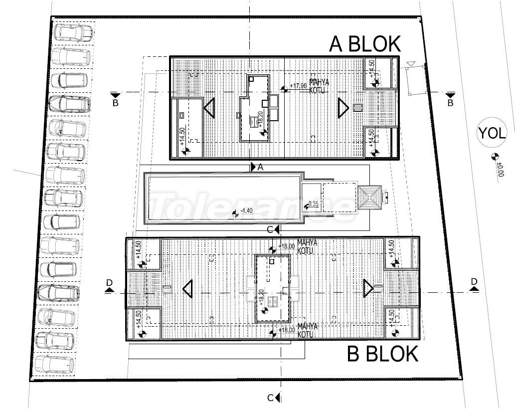 Элитные квартиры в Хурме, Коньяалты в комплексе с бассейном - 19387   Tolerance Homes