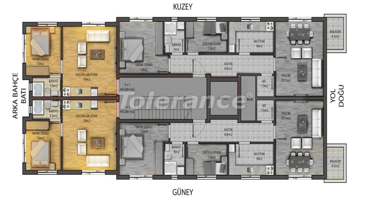 Современные квартиры в центре Анталии с газовым отоплением - 19439 | Tolerance Homes