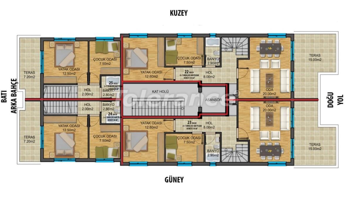 Современные квартиры в центре Анталии с газовым отоплением - 19440 | Tolerance Homes