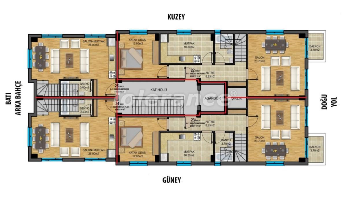 Современные квартиры в центре Анталии с газовым отоплением - 19438 | Tolerance Homes