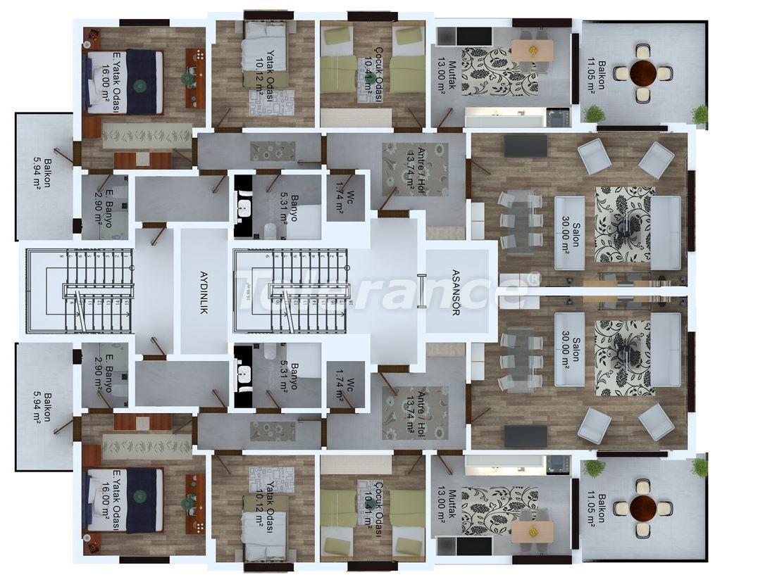 Просторные квартиры в Трабзоне от застройщика с центральным газовым отоплением рядом с морем - 19714 | Tolerance Homes