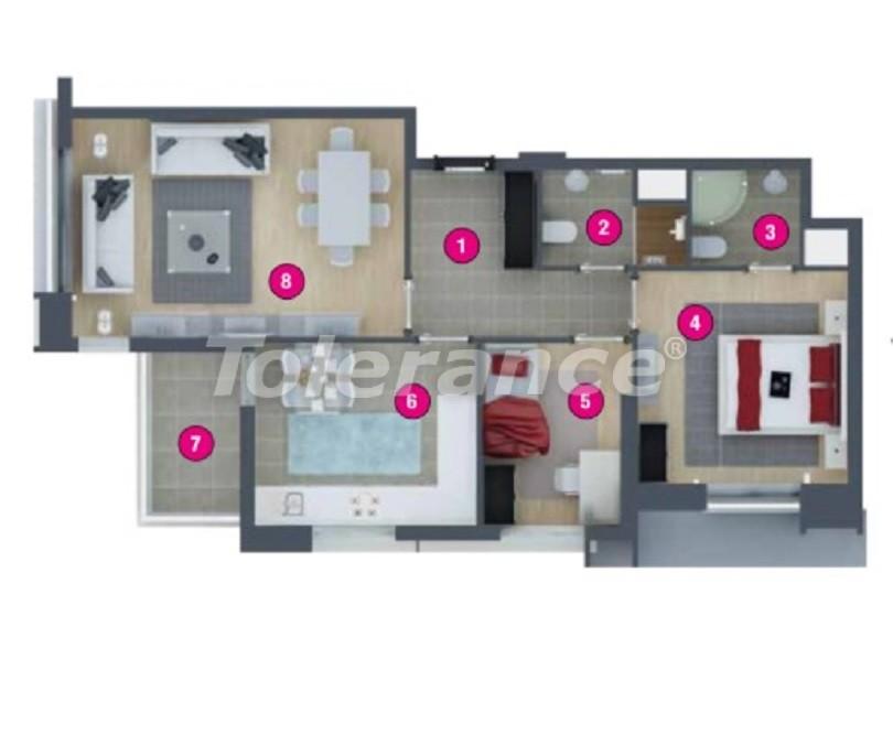 Просторная квартира в Кепезе, Анталия в комплексе с бассейном - 20046 | Tolerance Homes
