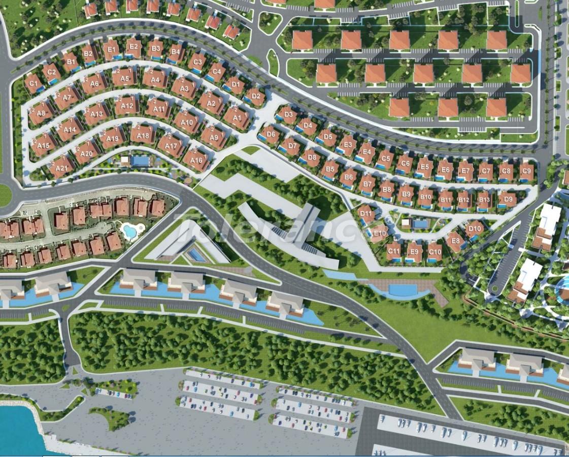 Современные виллы в Бейликдюзю, Стамбул в мини городе с роскошным видом на Мраморное море - 20332   Tolerance Homes