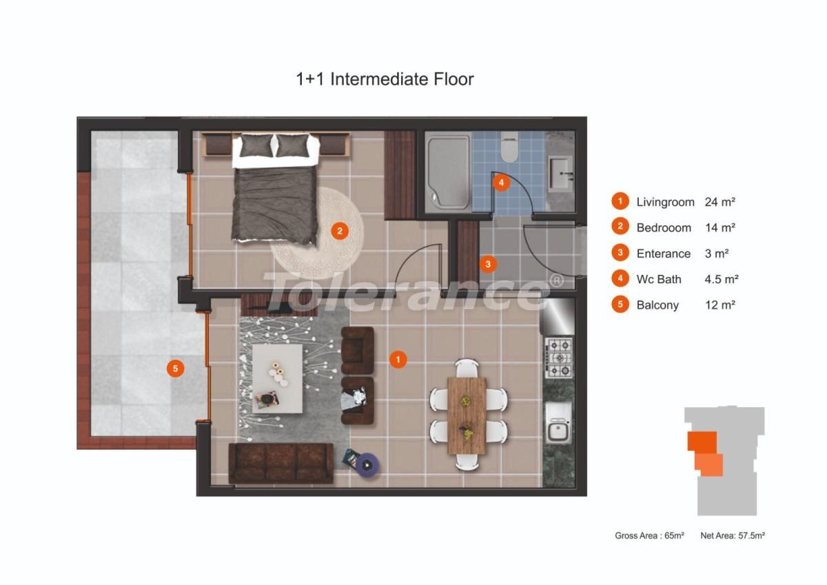 Апартаменты в Кестеле от надежного застройщика с рассрочкой до 1 года рядом с морем - 20431 | Tolerance Homes