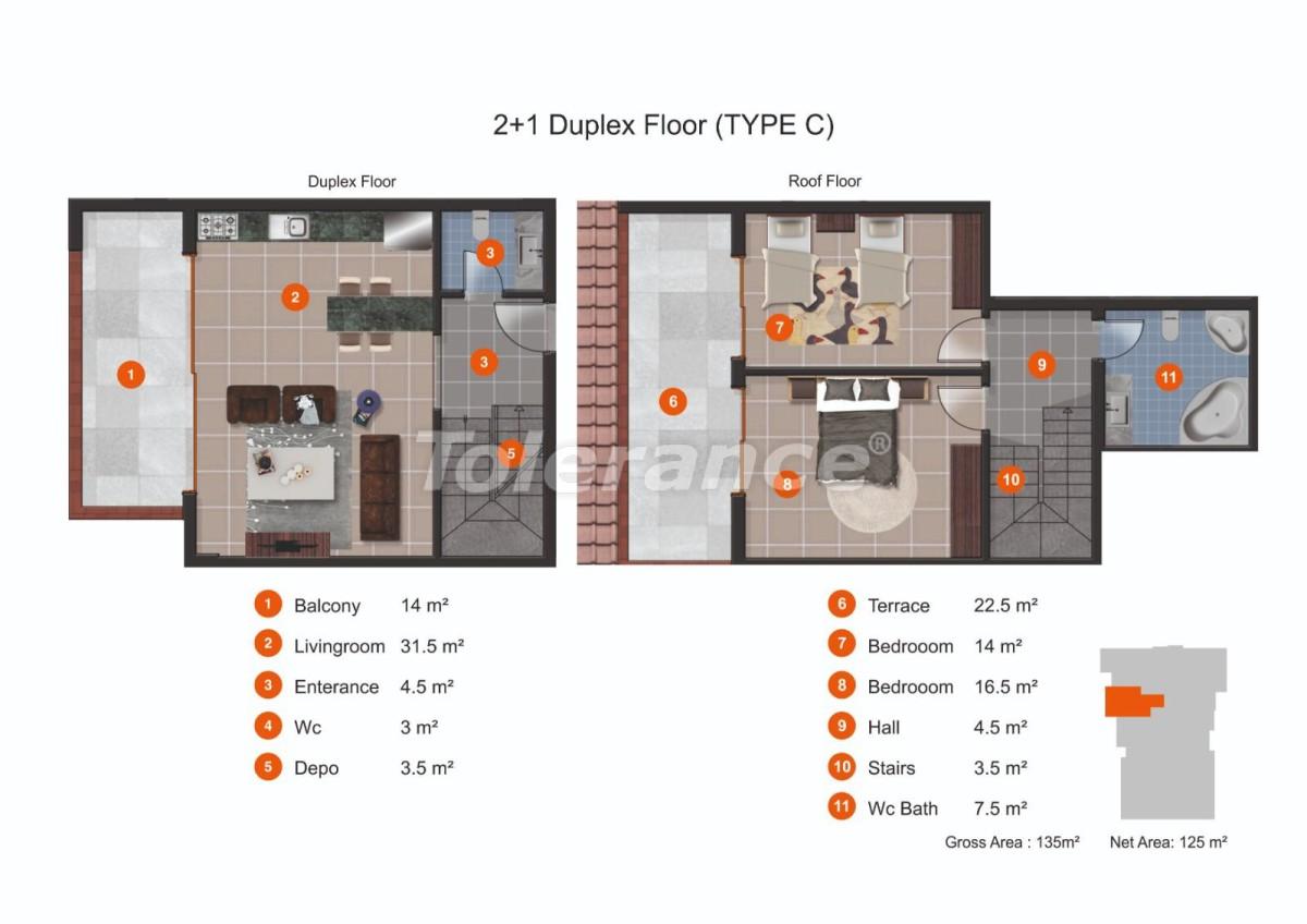 Апартаменты в Кестеле от надежного застройщика с рассрочкой до 1 года рядом с морем - 20438 | Tolerance Homes