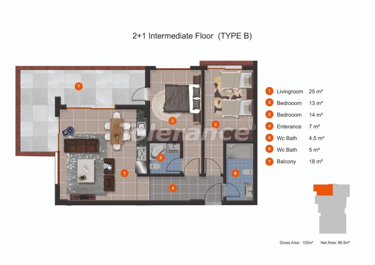Апартаменты в Кестеле от надежного застройщика с рассрочкой до 1 года рядом с морем - 20434 | Tolerance Homes