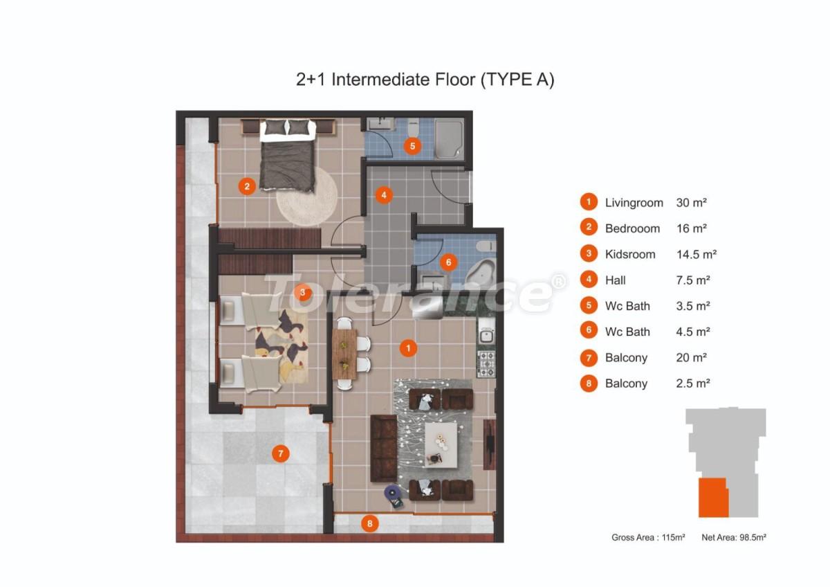 Апартаменты в Кестеле от надежного застройщика с рассрочкой до 1 года рядом с морем - 20432 | Tolerance Homes