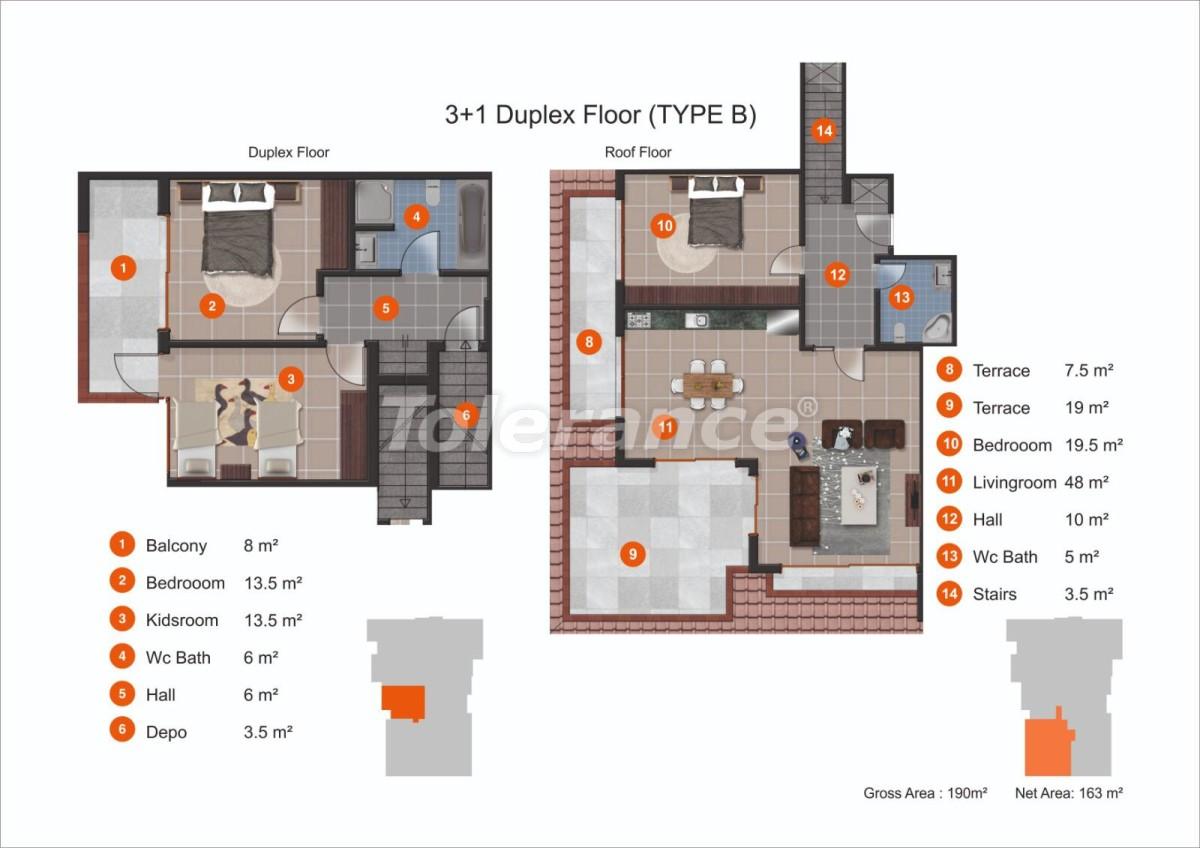 Апартаменты в Кестеле от надежного застройщика с рассрочкой до 1 года рядом с морем - 20436 | Tolerance Homes