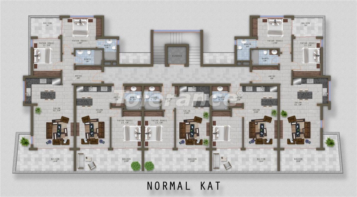 Элитные апартаменты в Каргыджаке, Аланья от одного из лучших застройщиков - 20526   Tolerance Homes