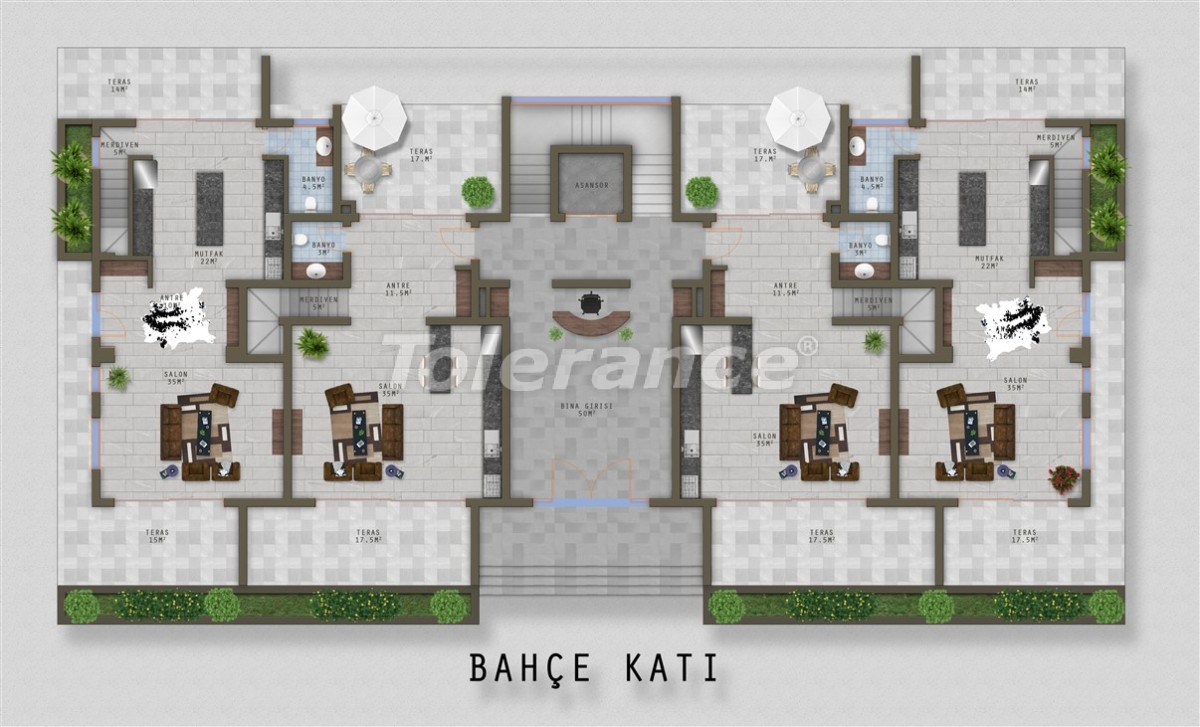 Элитные апартаменты в Каргыджаке, Аланья от одного из лучших застройщиков - 20527 | Tolerance Homes