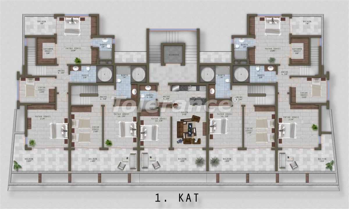 Элитные апартаменты в Каргыджаке, Аланья от одного из лучших застройщиков - 20522   Tolerance Homes