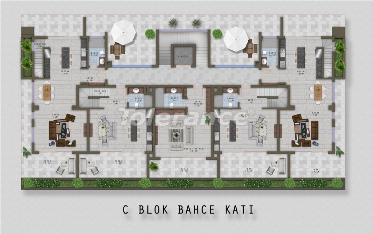 Элитные апартаменты в Каргыджаке, Аланья от одного из лучших застройщиков - 20523 | Tolerance Homes