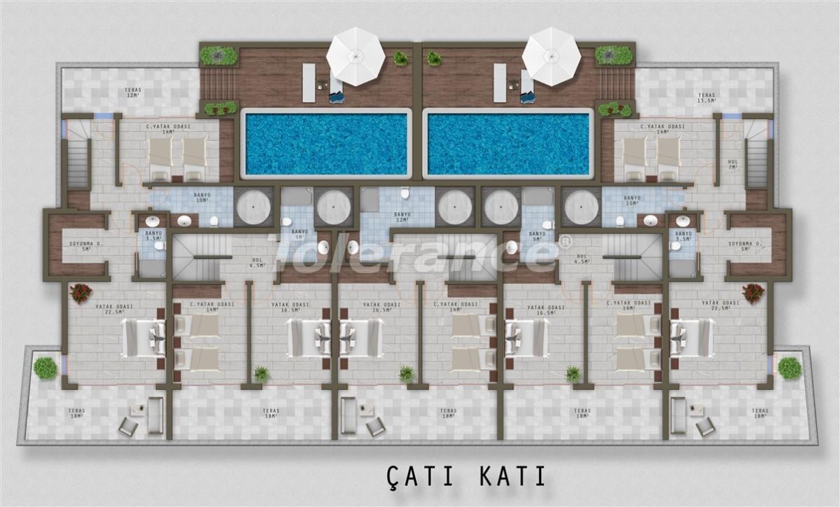 Элитные апартаменты в Каргыджаке, Аланья от одного из лучших застройщиков - 20524 | Tolerance Homes