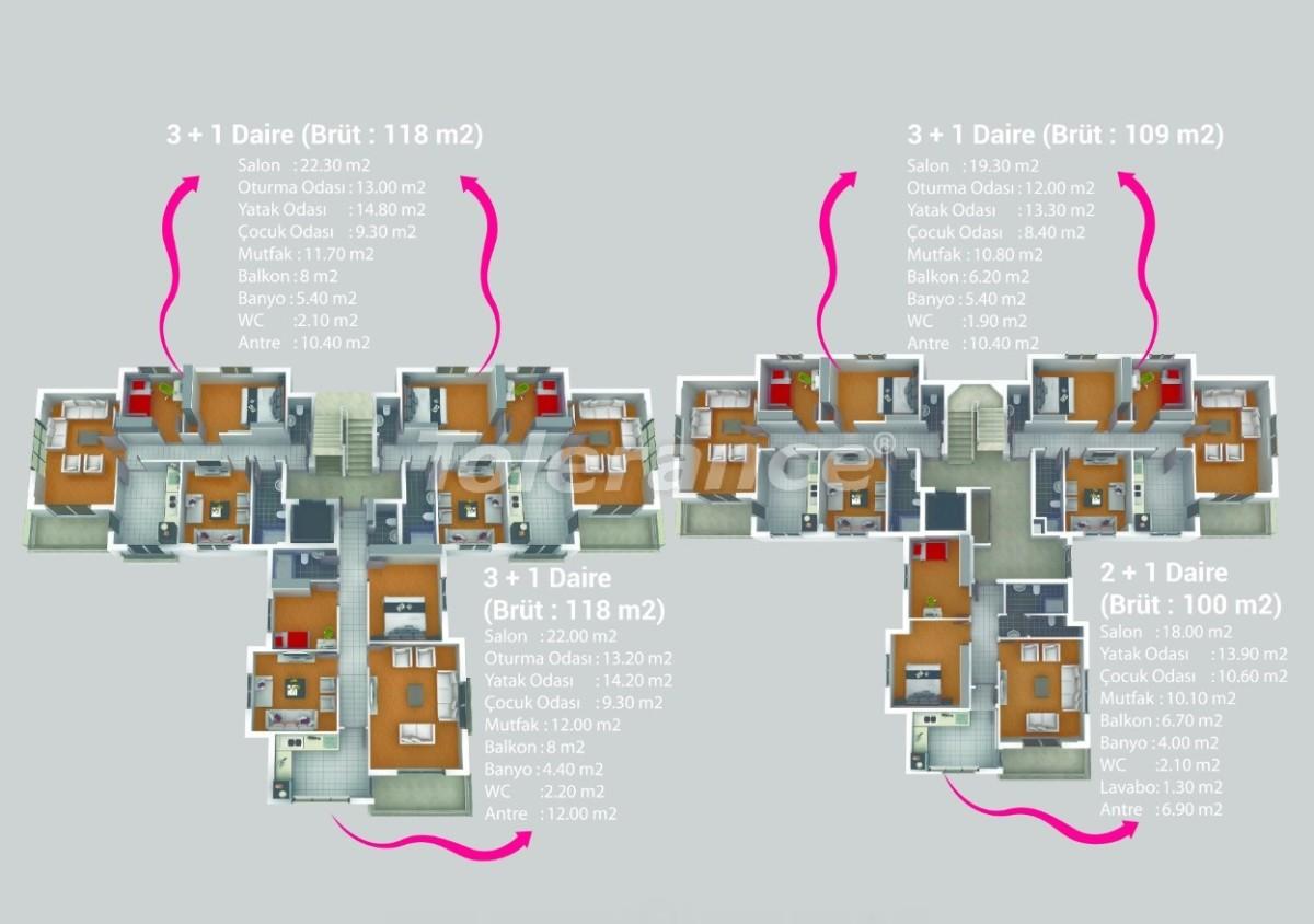 Квартиры в Кепезе, Анталия в комплексе с бассейном - 20616 | Tolerance Homes