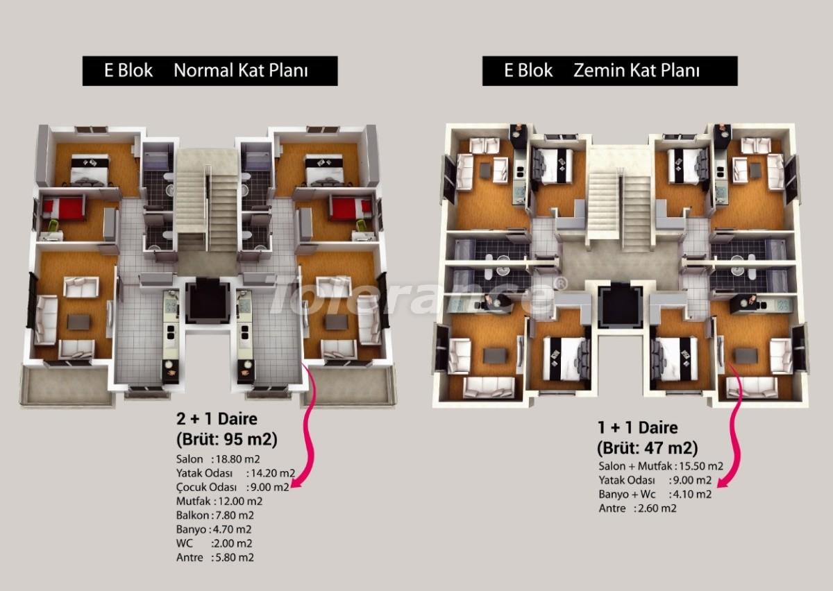 Квартиры в Кепезе, Анталия в комплексе с бассейном - 20615 | Tolerance Homes