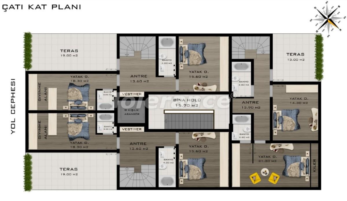 Просторные квартиры в Коньяалты, Анталия класса люкс рядом с морем - 20799 | Tolerance Homes