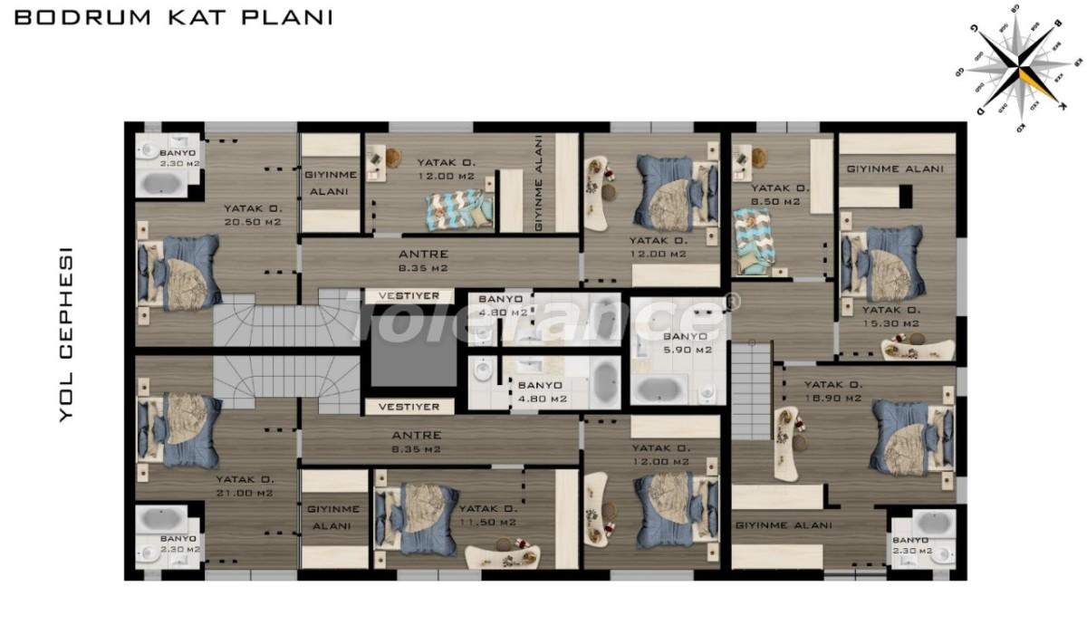 Просторные квартиры в Коньяалты, Анталия класса люкс рядом с морем - 20797 | Tolerance Homes