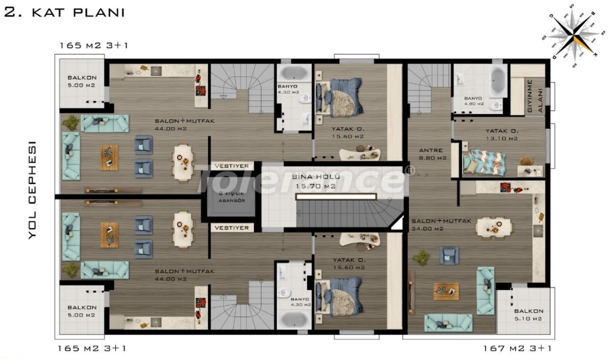 Просторные квартиры в Коньяалты, Анталия класса люкс рядом с морем - 20801 | Tolerance Homes