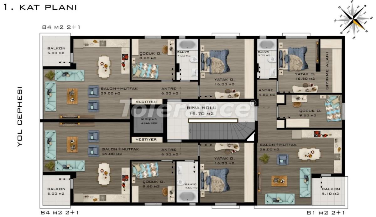 Просторные квартиры в Коньяалты, Анталия класса люкс рядом с морем - 20800 | Tolerance Homes
