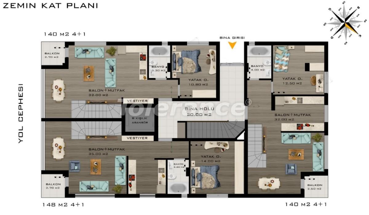 Просторные квартиры в Коньяалты, Анталия класса люкс рядом с морем - 20798 | Tolerance Homes