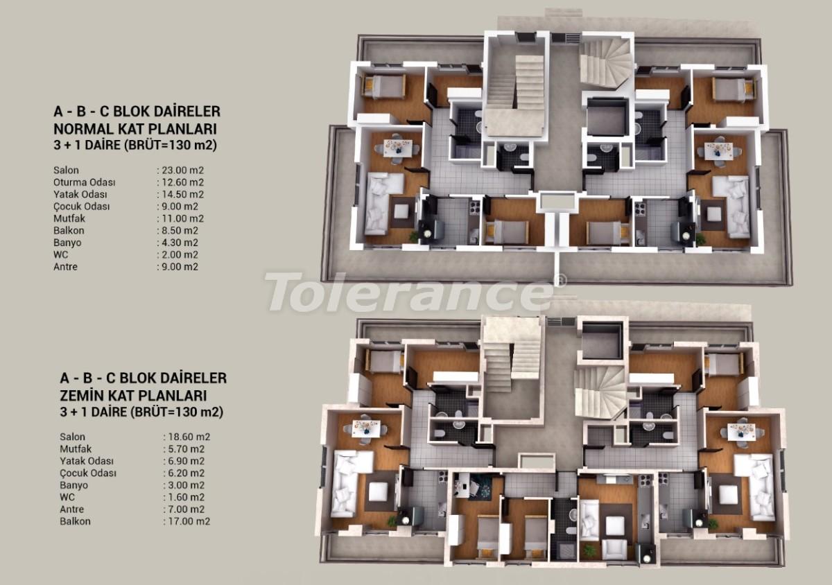 Современные квартиры в Кепезе, Анталия в комплексе с бассейном и аквапарком - 20811 | Tolerance Homes