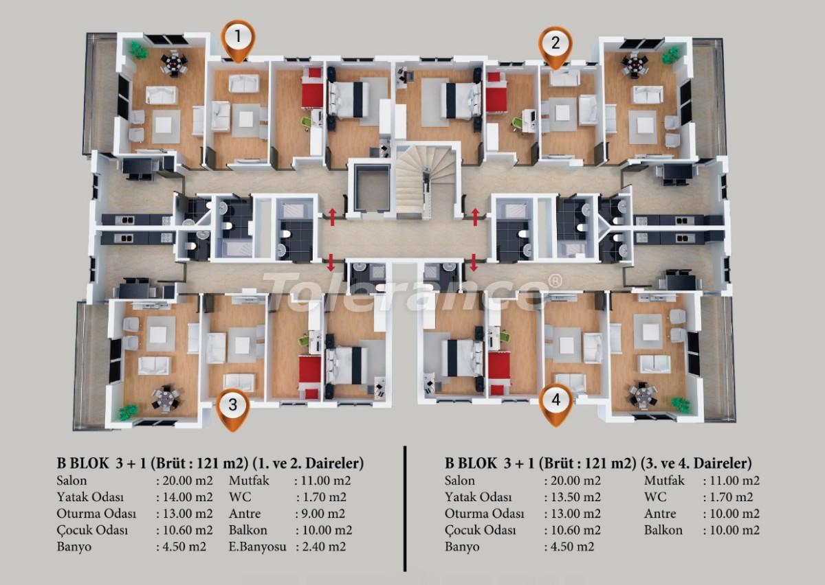 Современные квартиры  в Кепезе, Анталия от застройщика - 20860 | Tolerance Homes
