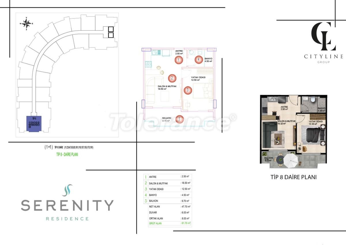 Роскошные апартаменты в комплексе с открытым бассейном, крытым бассейном, сауной и фитнес-центром - 21421 | Tolerance Homes