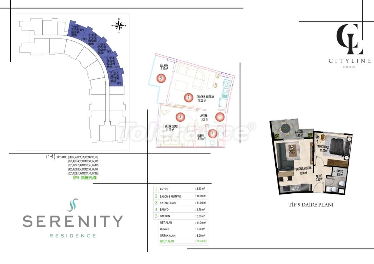Роскошные апартаменты в комплексе с открытым бассейном, крытым бассейном, сауной и фитнес-центром - 21427 | Tolerance Homes